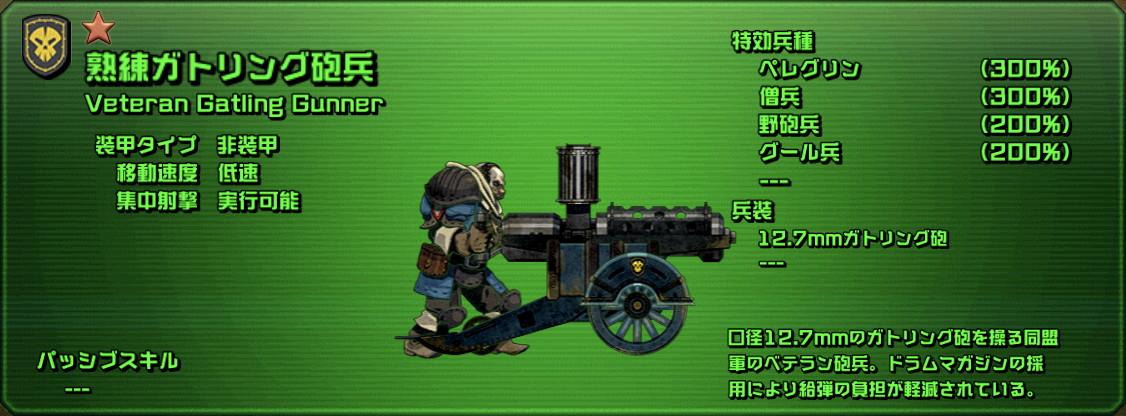 熟練ガトリング砲兵
